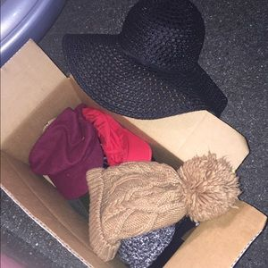 Box of assorted hats must take all